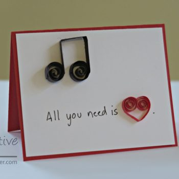 Quilled Love Card