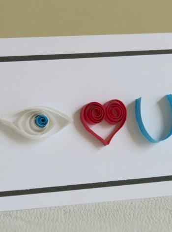 Quilled Rebus Love Card