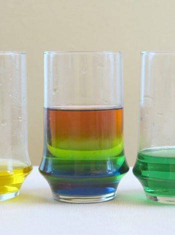 Rainbow Sugar Water Density Experiment