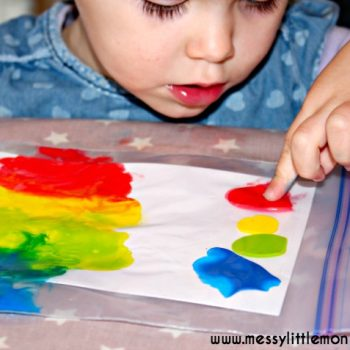 No Mess Rainbow Art