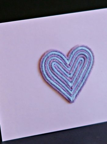 Yarn Heart Greeting Card