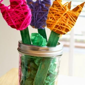 Yarn-Wrapped Tulips