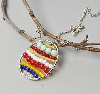 Easter Egg Pendant Necklace