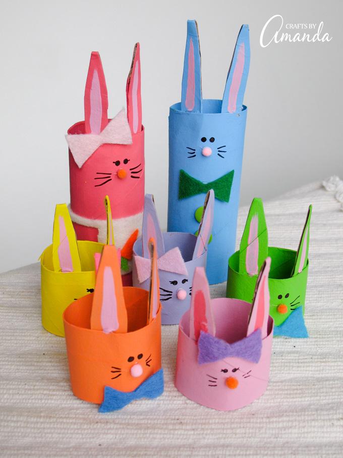 Cardboard Tube Bunny Rabbit Family Fun Family Crafts