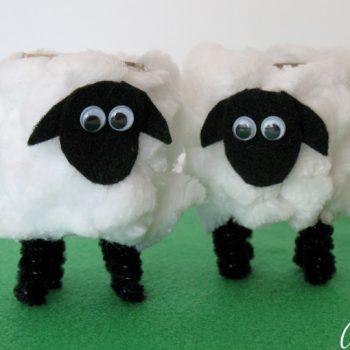 Cardboard Tube Lambs