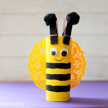 Cardboard Tube Bee