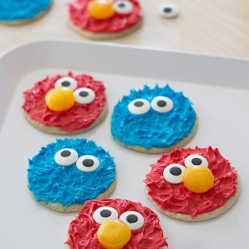 Cookie Monster and Elmo Cookies