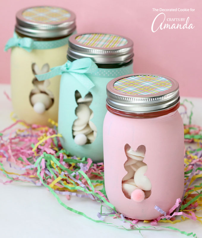 Easter bunny mason jars fun family crafts easter bunny mason jars negle Choice Image