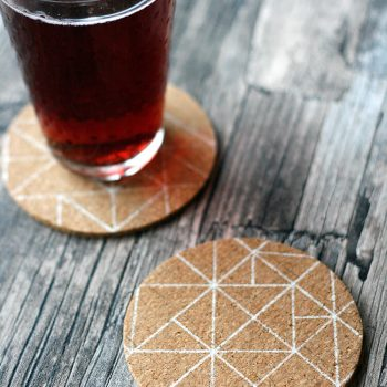 Scandinavian-Inspired Cork Coasters