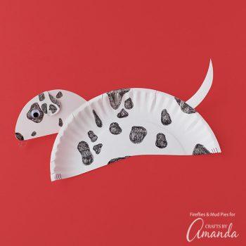 Paper Plate Dalmatian