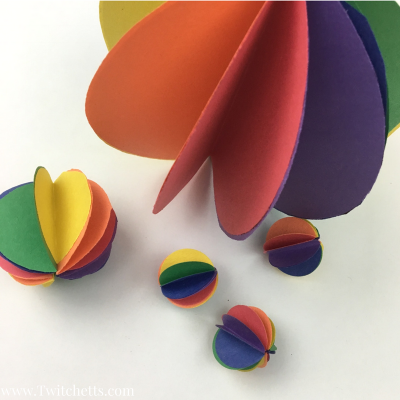 Rainbow Spheres Construction Paper Crafts For Kids Sq W Watermark