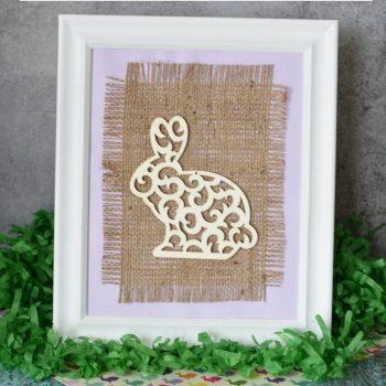 Burlap Canvas Easter Bunny