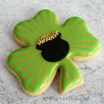 Shimmering Shamrock Cookie
