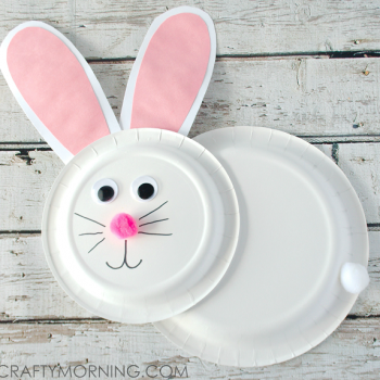 Paper Plate Bunny Rabbit