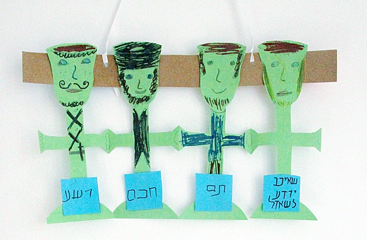 how to make human family chain by paper