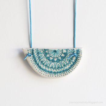 Clay Mandala Pendant
