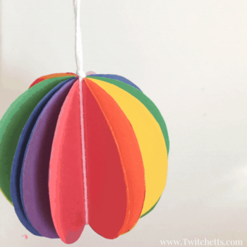 rainbow sphere craft