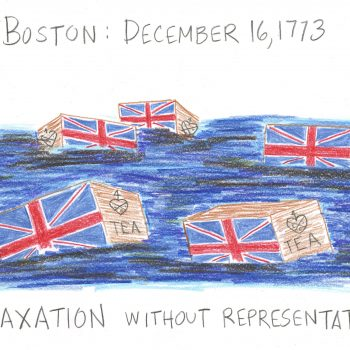 Boston Tea Party Drawing