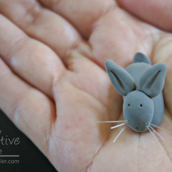 Clay Bunny Figurine