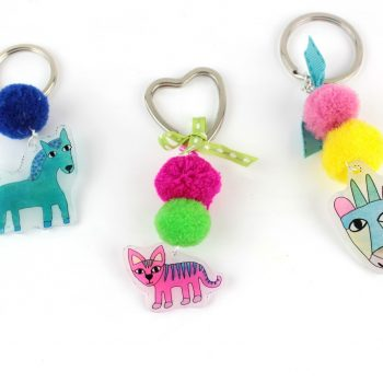 Shrink Plastic Animal Keychains