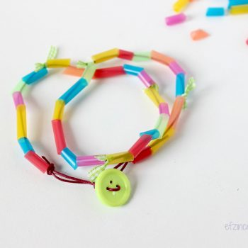 Drinking Straw Bead Necklace