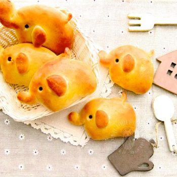 Baby Elephant Ham and Cheese Bread
