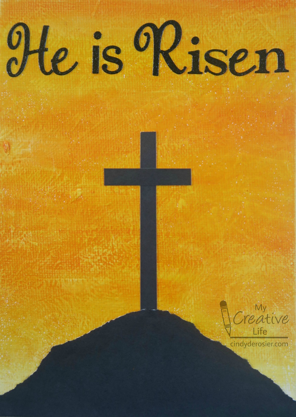 He Is Risen Easter Canvas