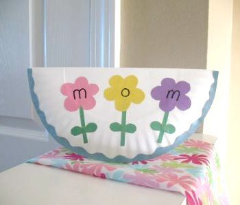 Paper Plate Mother's Day Card