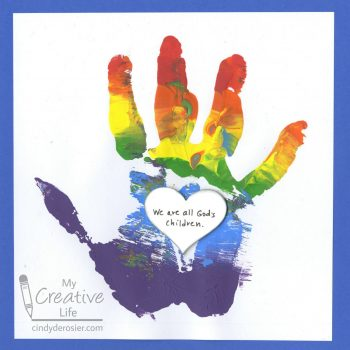 'We Are All God's Children' Handprint Craft
