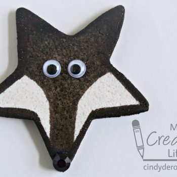 Salt Dough Fox Magnet