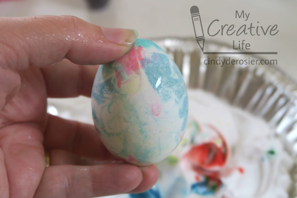 Dyeing Easter Eggs With Shaving Cream Fun Family Crafts