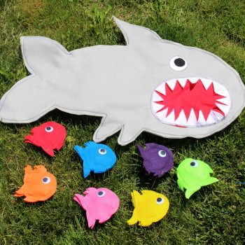 Shark Chum Traveling Bean Bag Toss Game