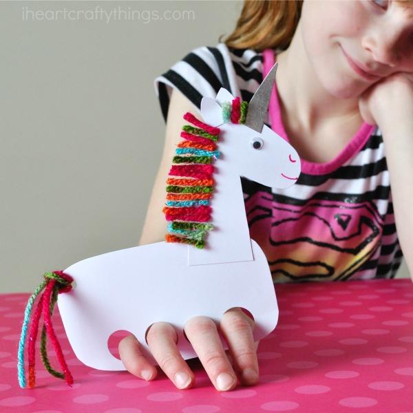 Unicorn Puppet Fun Family Crafts