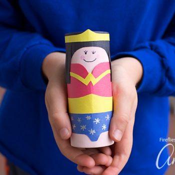 Cardboard Tube Wonder Woman