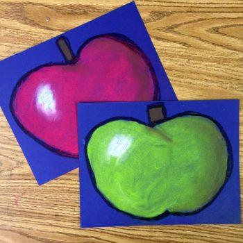 Chalk Pastel Apple