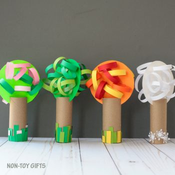 Four Season Cardboard Tube Trees