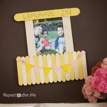 Lemonade Stand Magnetic Picture Frame