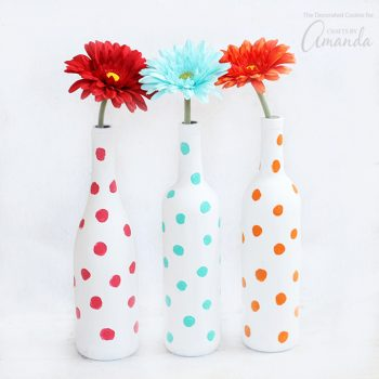 Polka Dot Bottle Vases