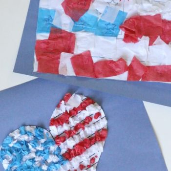 Tissue Paper American Flag