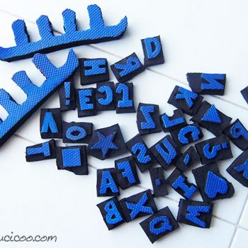 Alphabet Stamps Made with Recycled Flip Flops
