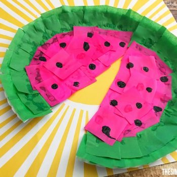Paper Plate and Tissue Paper Watermelon