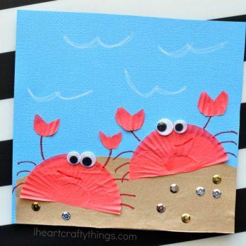 Cupcake Liner Crab