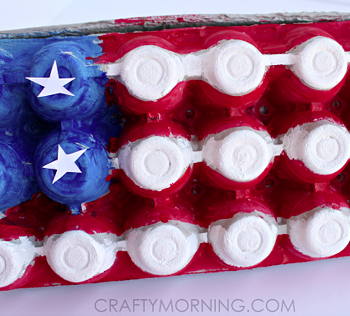 Egg Carton American Flag