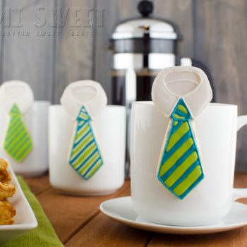 Father's Day Necktie Mug Cookie