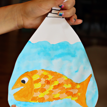 Goldfish in a Bag Painting