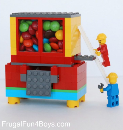 Lego candy dispenser fun family crafts for Lego crafts for kids