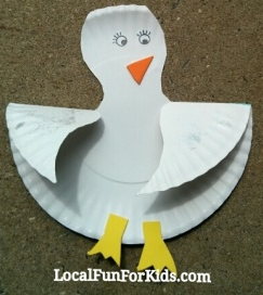 Paper Plate Seagull