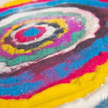Rangoli-Inspired Sand Art
