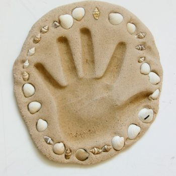 Sand Clay Handprint Keepsake