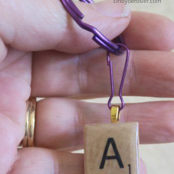 Scrabble Keychain